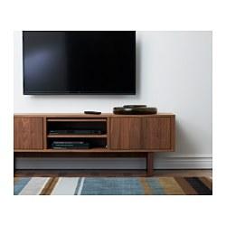 stockholm tv bench walnut veneer 160x40 cm ikea. Black Bedroom Furniture Sets. Home Design Ideas