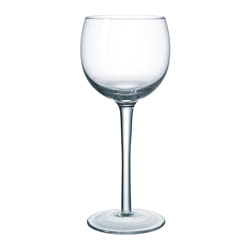STOCKHOLM Wine glass IKEA The glass is mouth blown by a skilled craftsperson and has a handmade decor, making each glass unique.