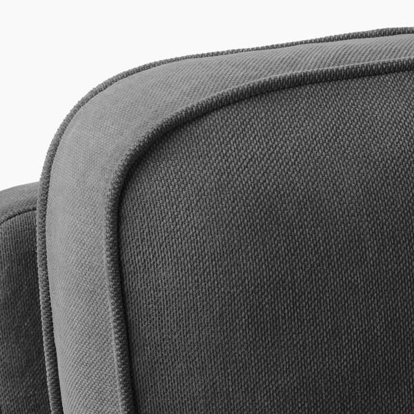 STOCKSUND 2-seat sofa, Tallmyra medium grey/light brown/wood