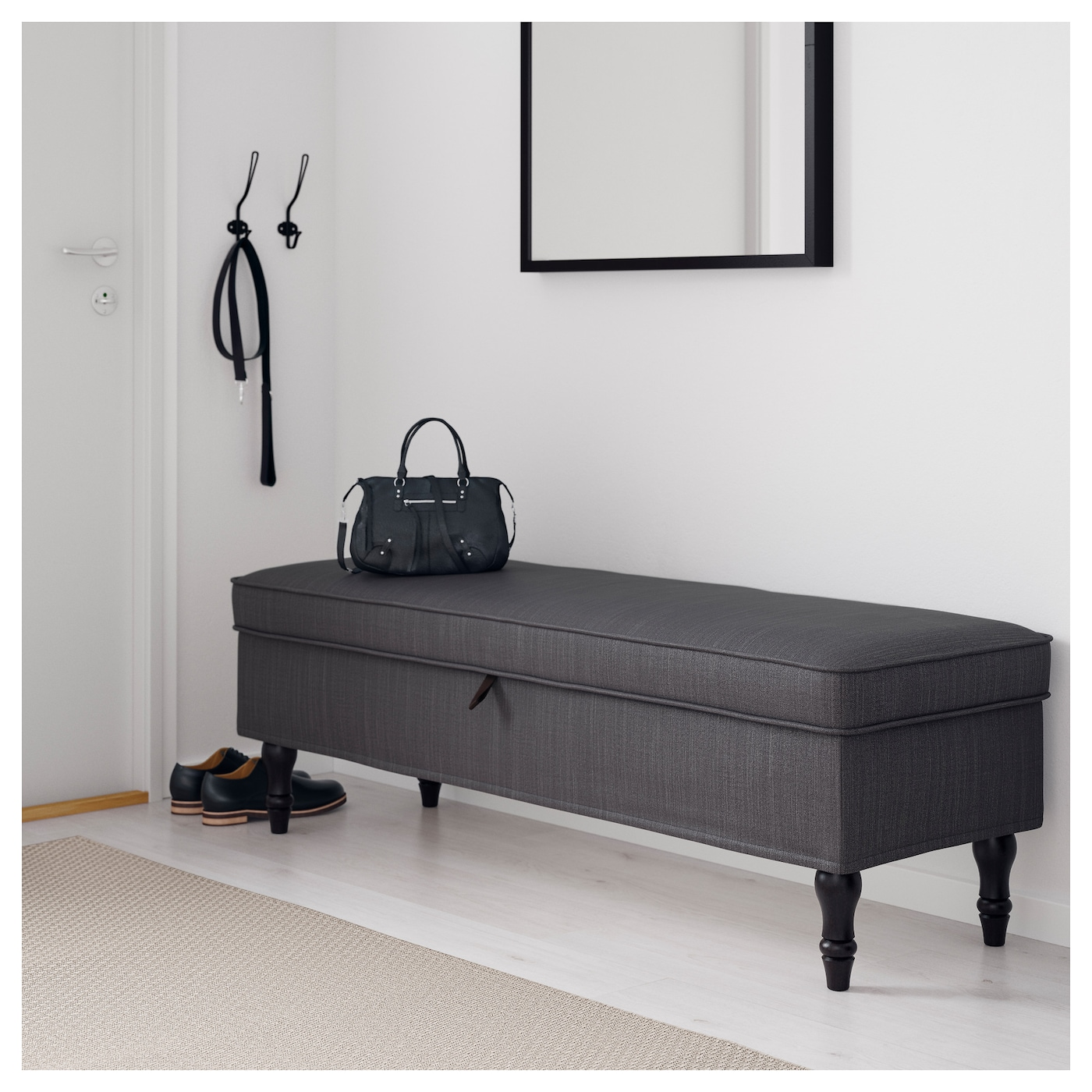 stocksund bench nolhaga dark grey black wood ikea. Black Bedroom Furniture Sets. Home Design Ideas