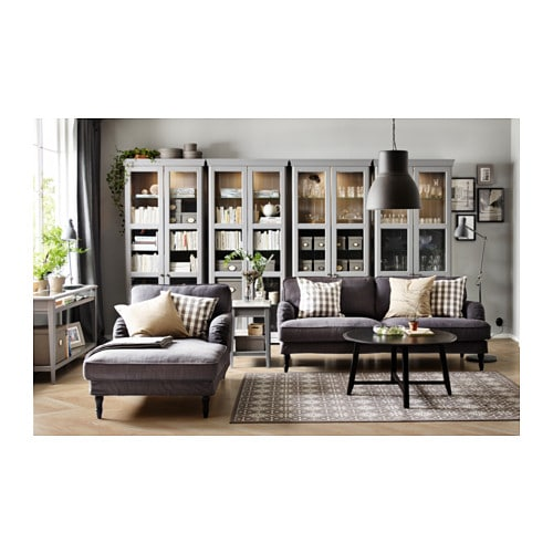 stocksund chaise longue nolhaga dark grey black wood ikea. Black Bedroom Furniture Sets. Home Design Ideas