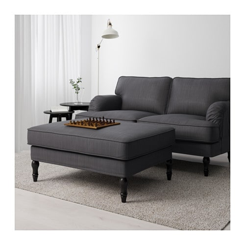 Ikea Stocksund Footstool Works As An Extra Seat Or A Comfortable Extension Of Your Sofa