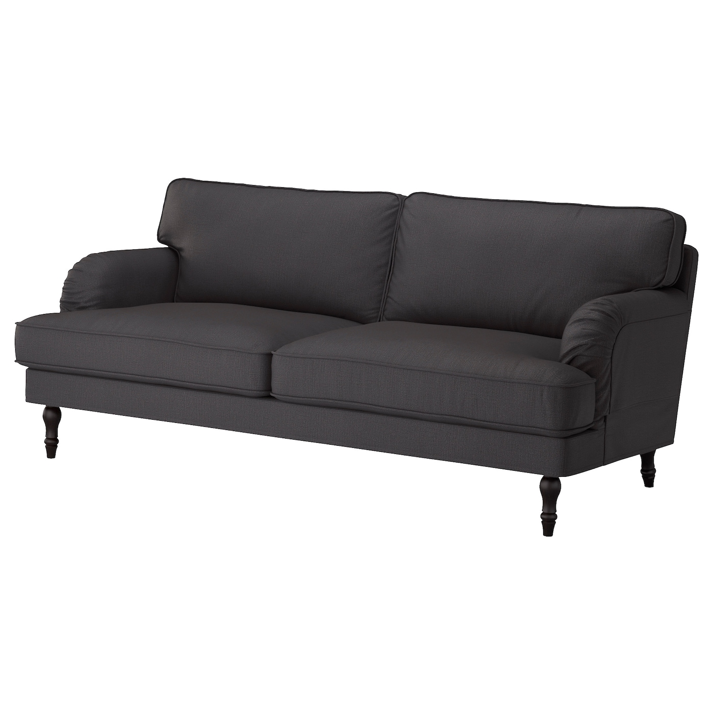 stocksund legs f armch chaise longue sofas black ikea. Black Bedroom Furniture Sets. Home Design Ideas