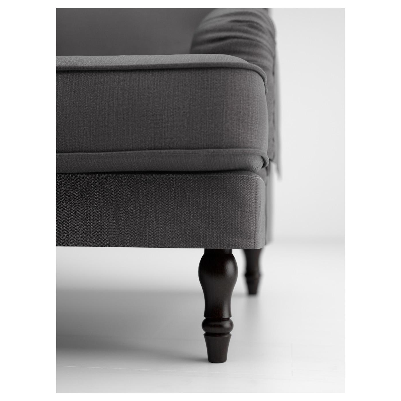 Recamiere ikea stocksund  STOCKSUND Legs f armch/chaise-longue/sofas Black - IKEA