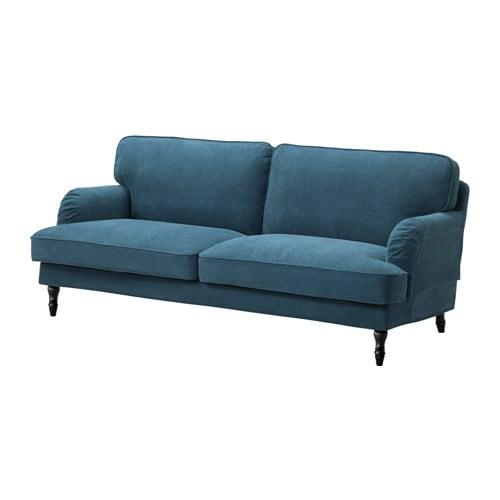 stocksund three seat sofa tallmyra blue black wood ikea. Black Bedroom Furniture Sets. Home Design Ideas