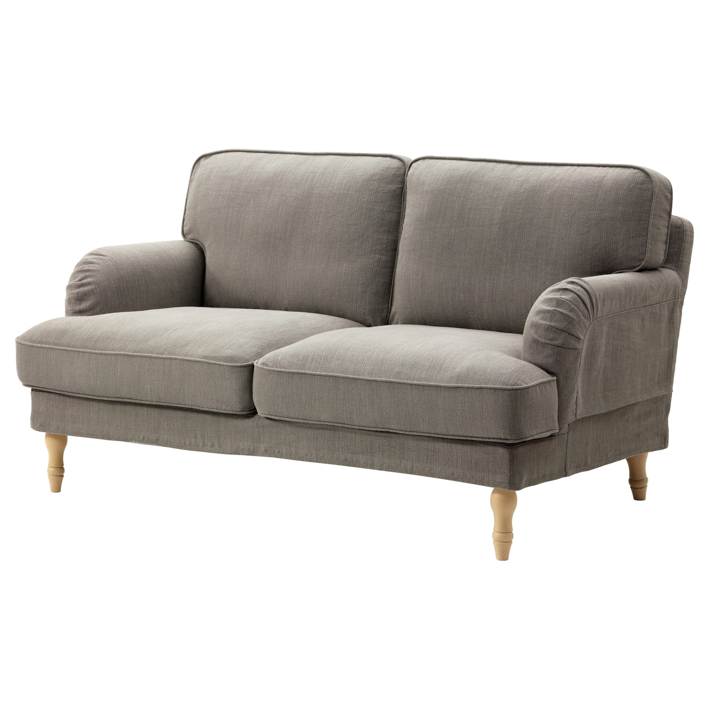 STOCKSUND Two Seat Sofa Nolhaga Grey Beige Light Brown
