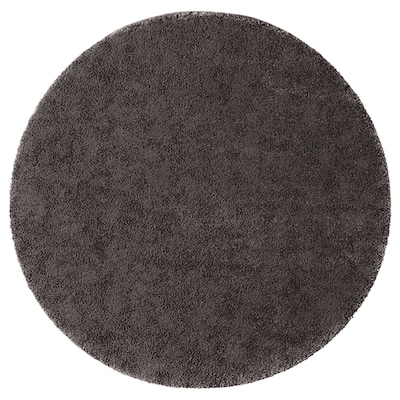 STOENSE Rug, low pile, dark grey, 130 cm