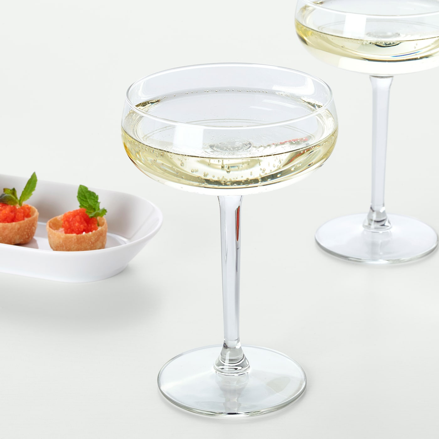 Storhet Clear Glass Champagne Coupe Ikea