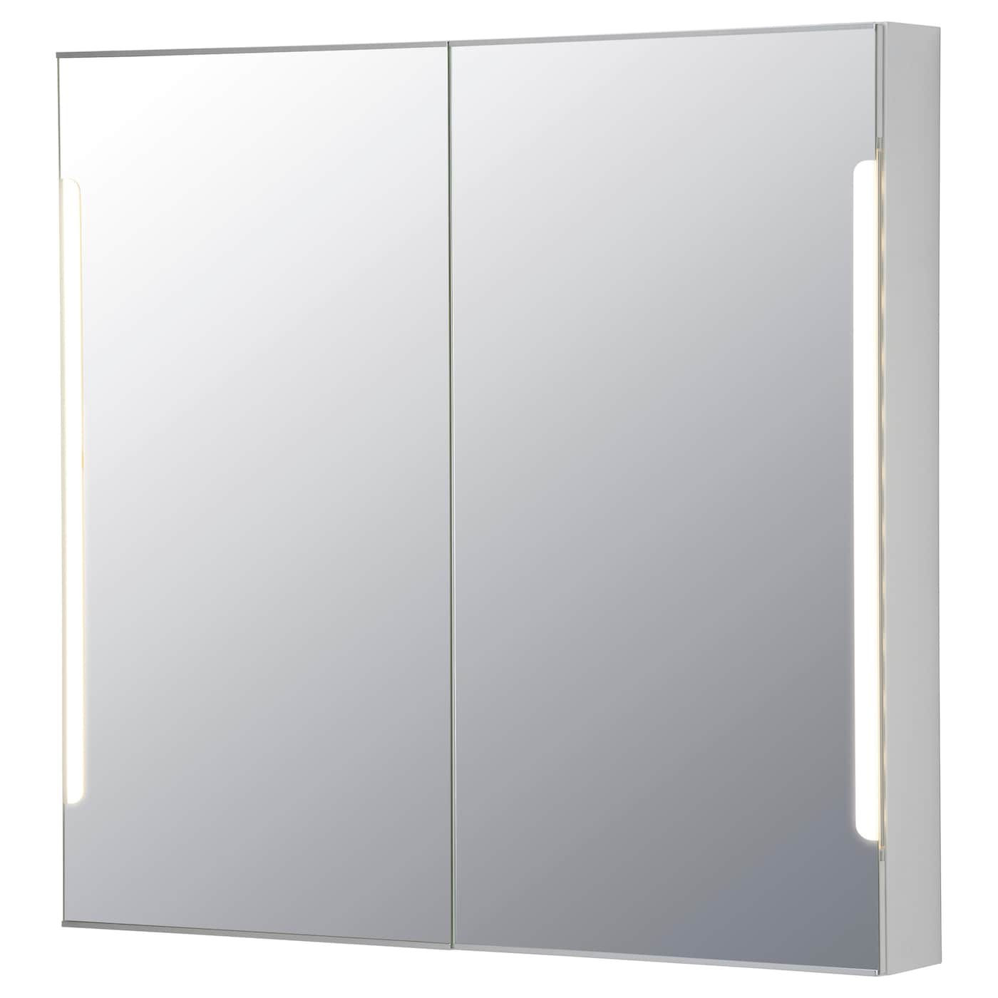 ikea storjorm mirror cab 2 door built in lighting