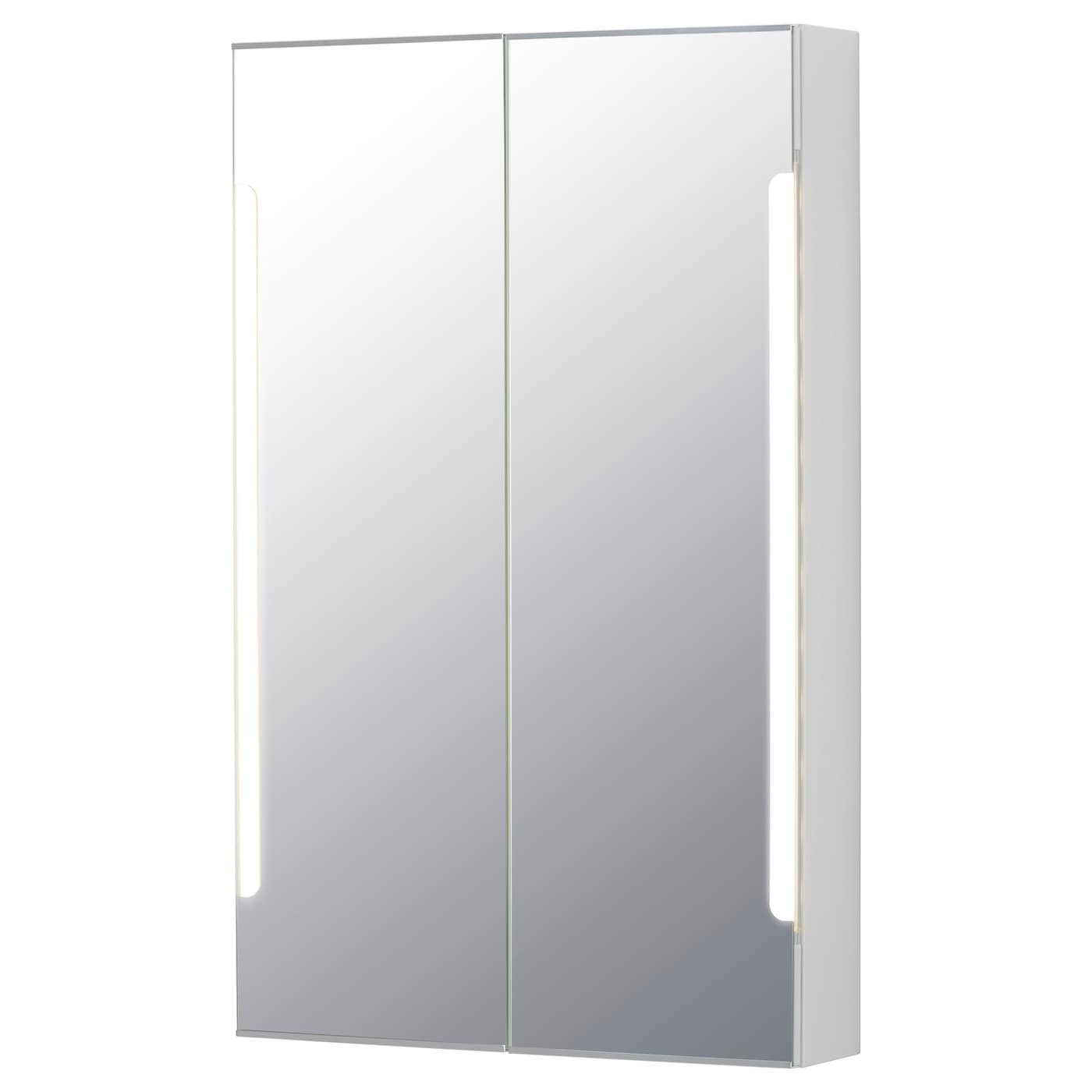STORJORM Mirror cab 2 doorbuiltin lighting White