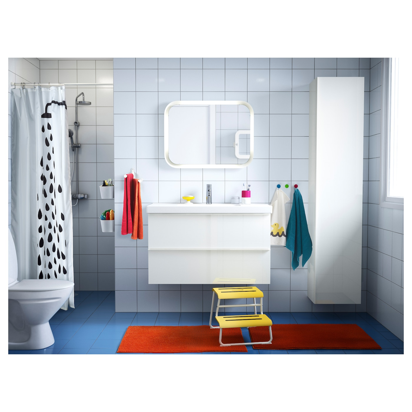 mirror with integrated lighting. IKEA STORJORM Mirror With Integrated Lighting A