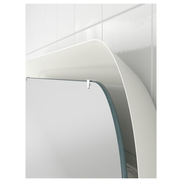 STORJORM Mirror with integrated lighting, white, 80x60 cm
