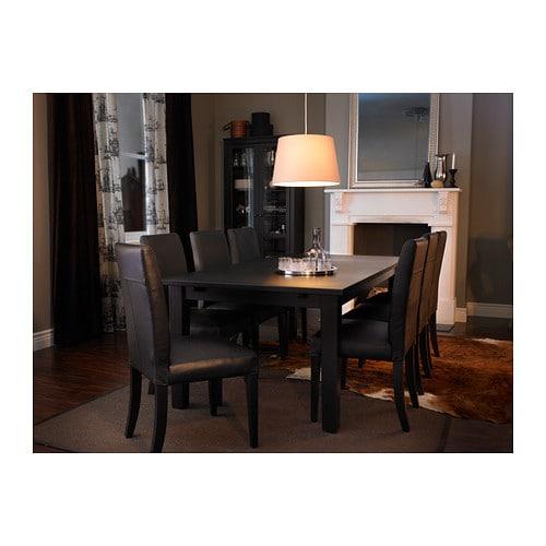 storn s extendable table brown black 201 247 293x105 cm ikea. Black Bedroom Furniture Sets. Home Design Ideas