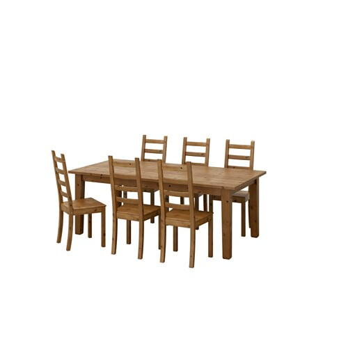 IKEA STORNÄS/KAUSTBY table and 6 chairs Solid pine; a natural material that ages beautifully.