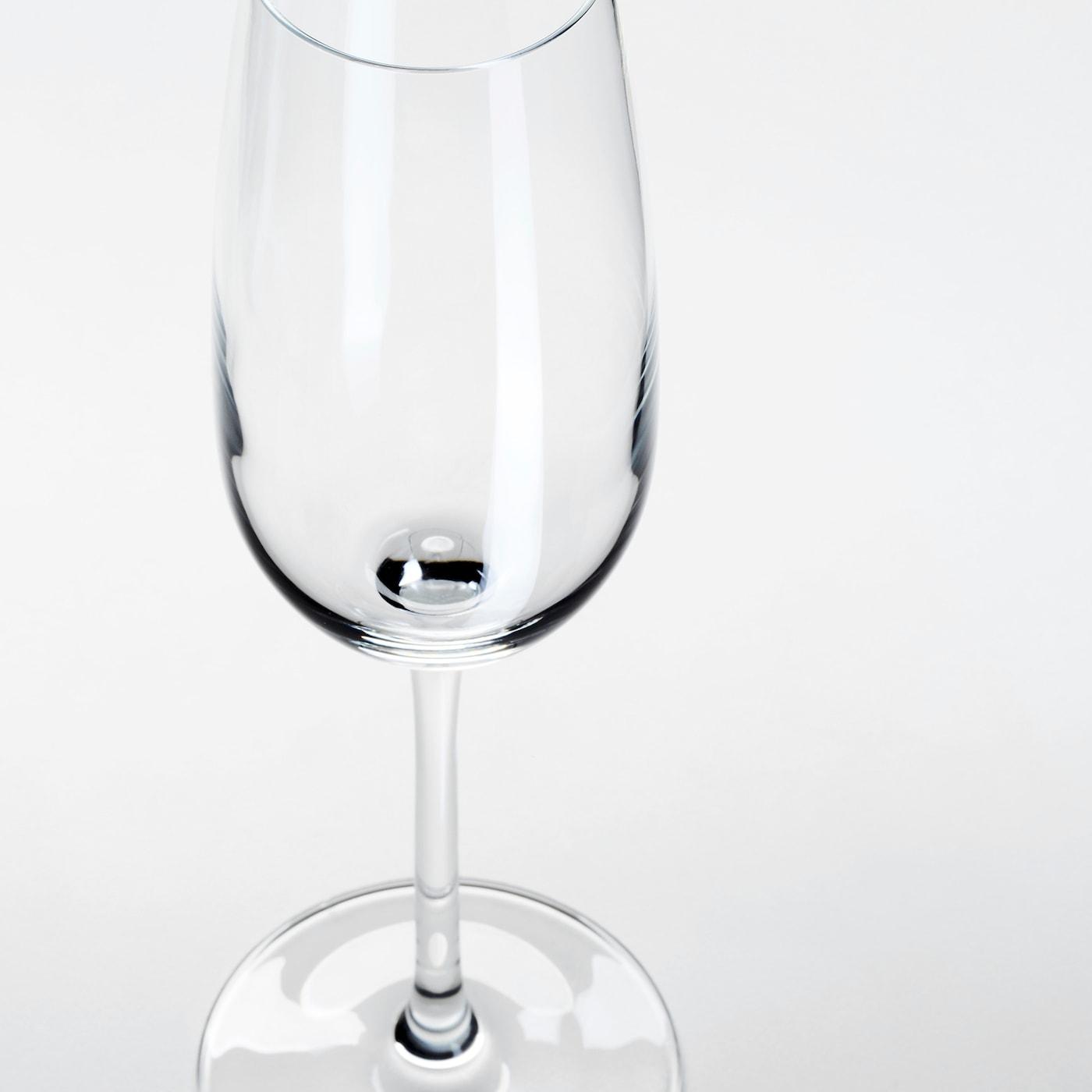 STORSINT Champagne glass, clear glass, 22 cl
