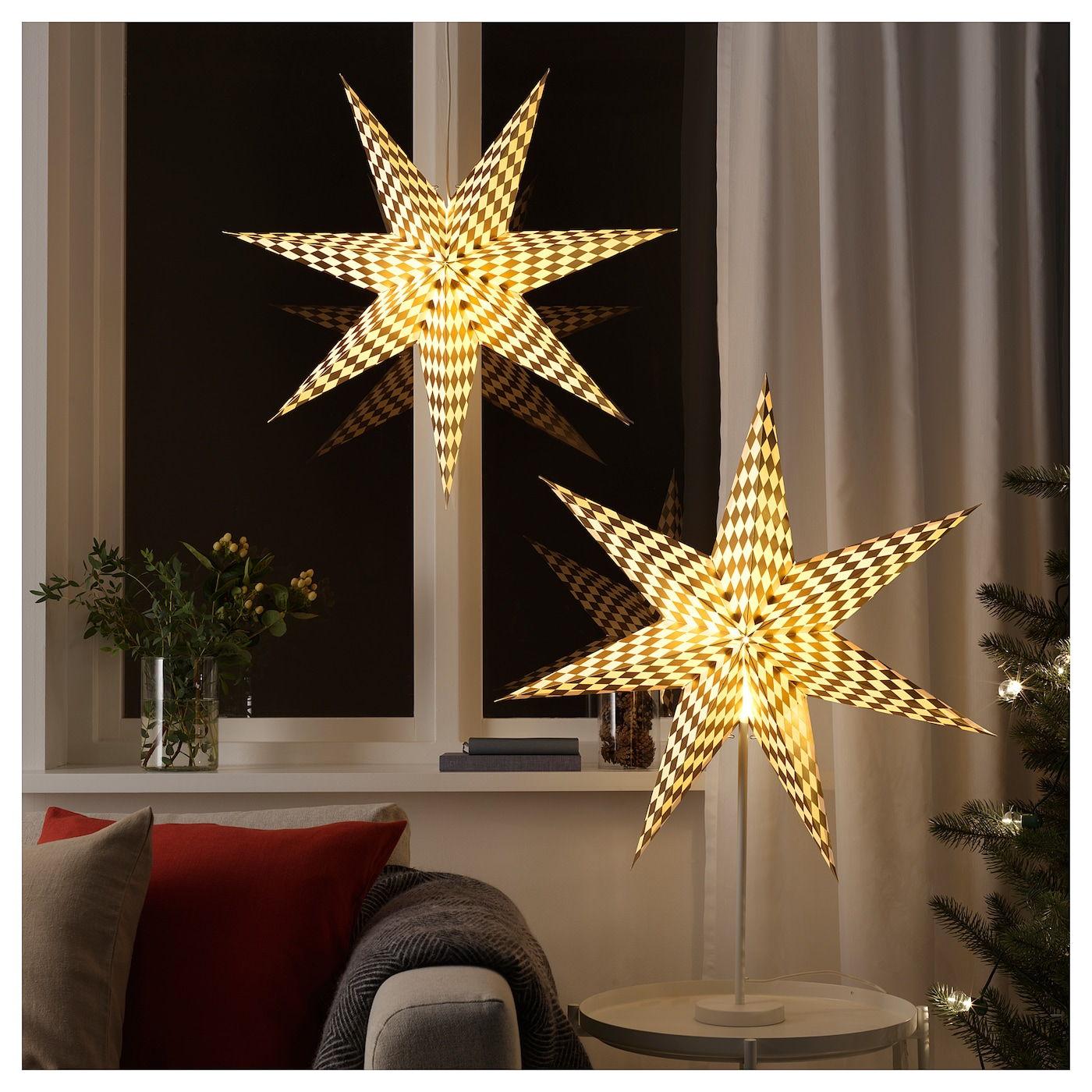 Ikea StrÅla Lamp Shade Gives A Warm Cosy Glow And Spreads The Holiday Atmosphere In