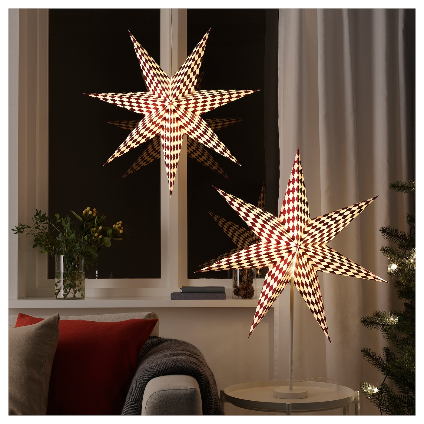 IKEA STRÅLA lamp shade Gives a warm, cosy glow and spreads the holiday atmosphere in your home.
