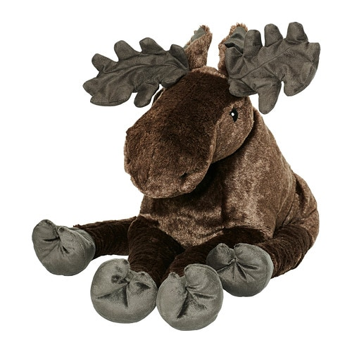 IKEA STRÖVA soft toy Soft and cuddly king of the Swedish forest.