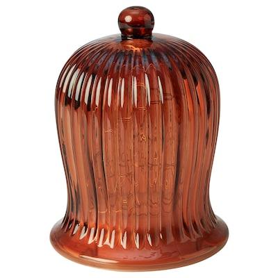 STRÅLA LED table decoration, battery-operated/bell-shaped orange