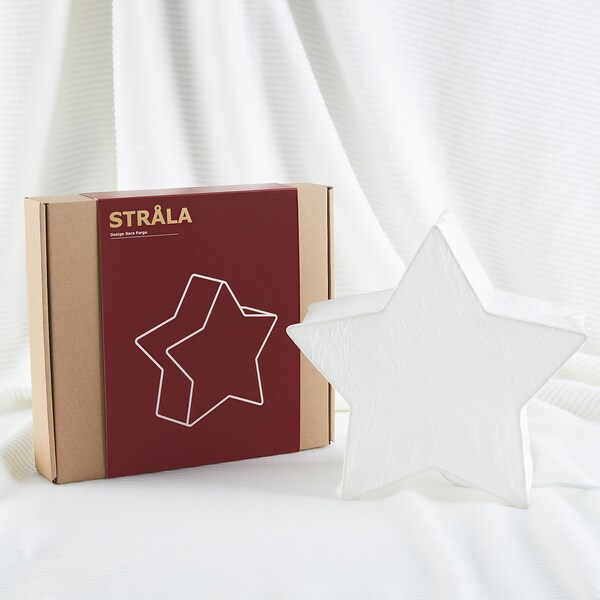 STRÅLA Table decoration, star-shaped/white