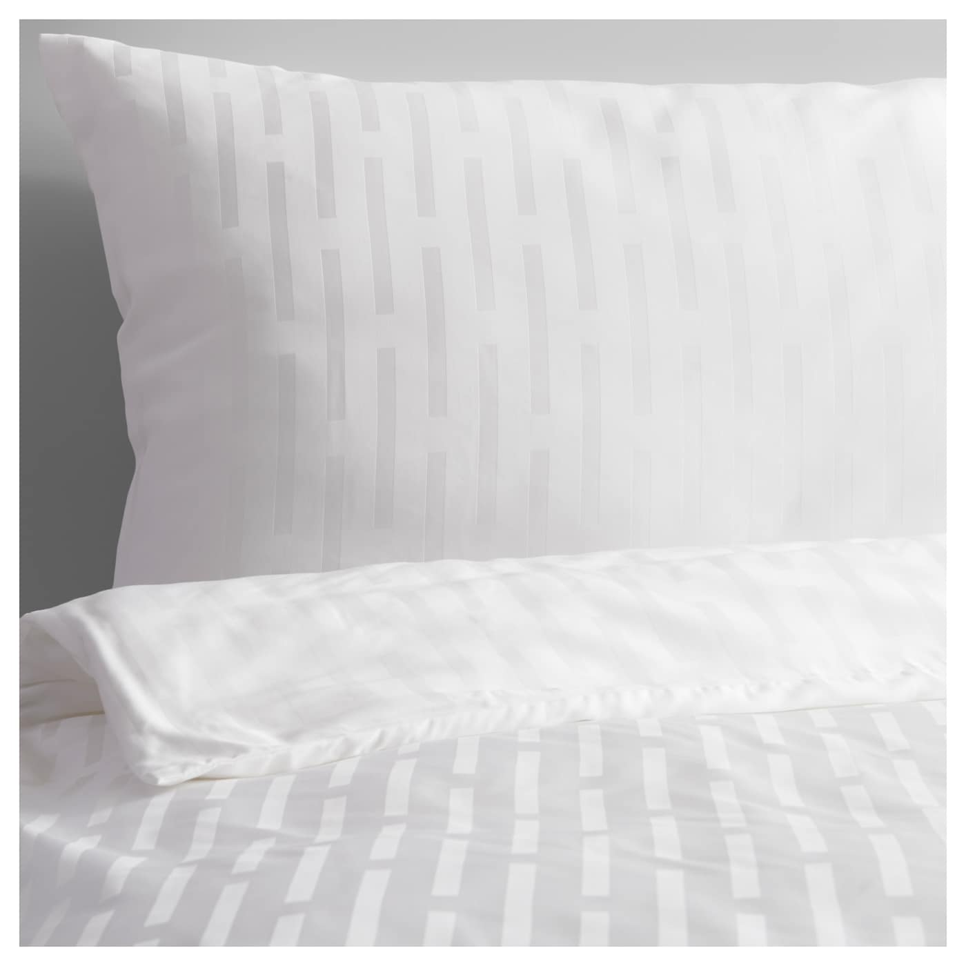 Strandgyllen quilt cover and 4 pillowcases stripe white for Housse de couette 200x200 ikea