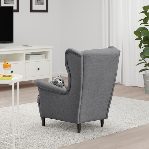STRANDMON Children's armchair - Vissle grey - IKEA