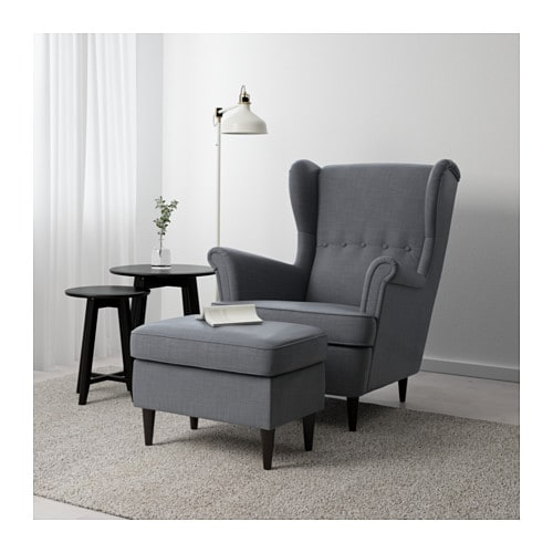 strandmon footstool nordvalla dark grey ikea. Black Bedroom Furniture Sets. Home Design Ideas
