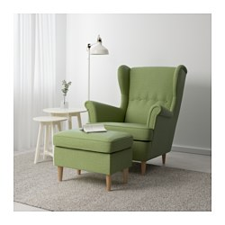 strandmon footstool skiftebo green ikea. Black Bedroom Furniture Sets. Home Design Ideas