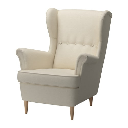 STRANDMON Wing chair , Isefall natural Seat width: 49 cm Seat depth: 54 cm Seat height: 45 cm Height: 101 cm Width: 82 cm / 82 cm