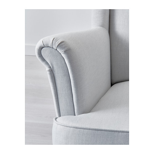 strandmon wing chair nordvalla light grey ikea. Black Bedroom Furniture Sets. Home Design Ideas