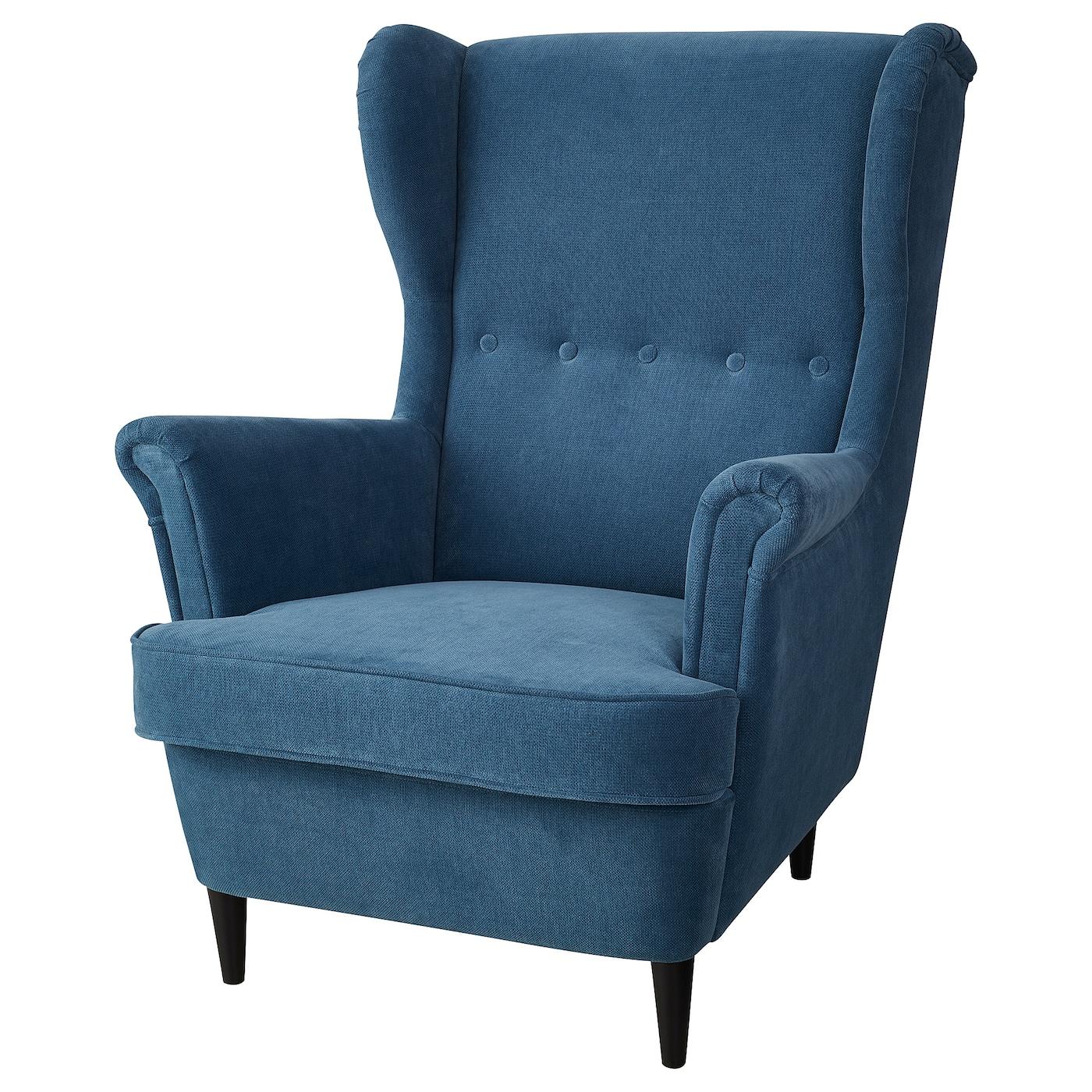 Wing Chair Strandmon Tallmyra Turquoise Blue