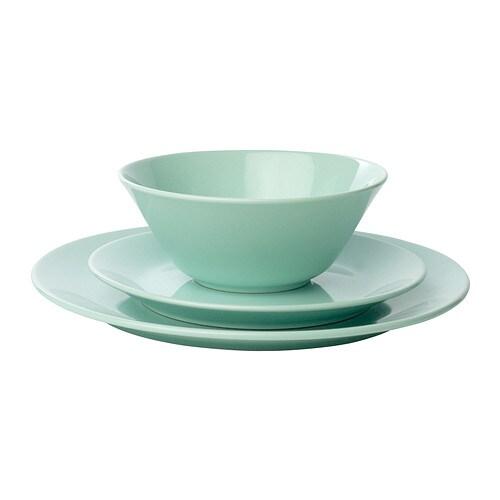 Ikea green plates