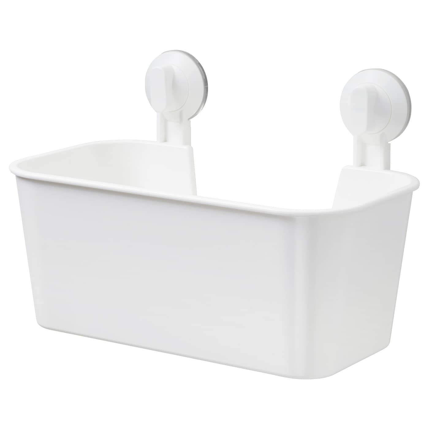 Bathroom Accessories With Suction Cups stugvik basket with suction cup white - ikea