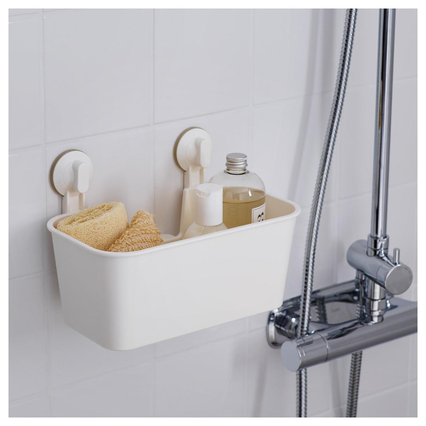 Stugvik basket with suction cup white ikea - Ikea porta spugne ...