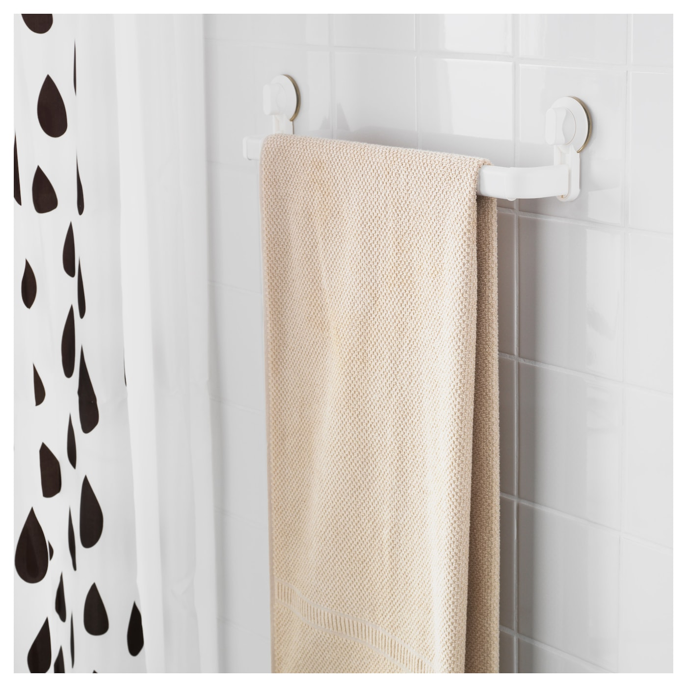Stugvik towel rack with suction cup white ikea Towel storage ideas ikea