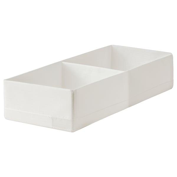 STUK Box with compartments, white, 20x51x10 cm