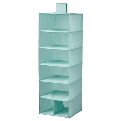 STUK Storage with 7 compartments, light turquoise, 30x30x90 cm