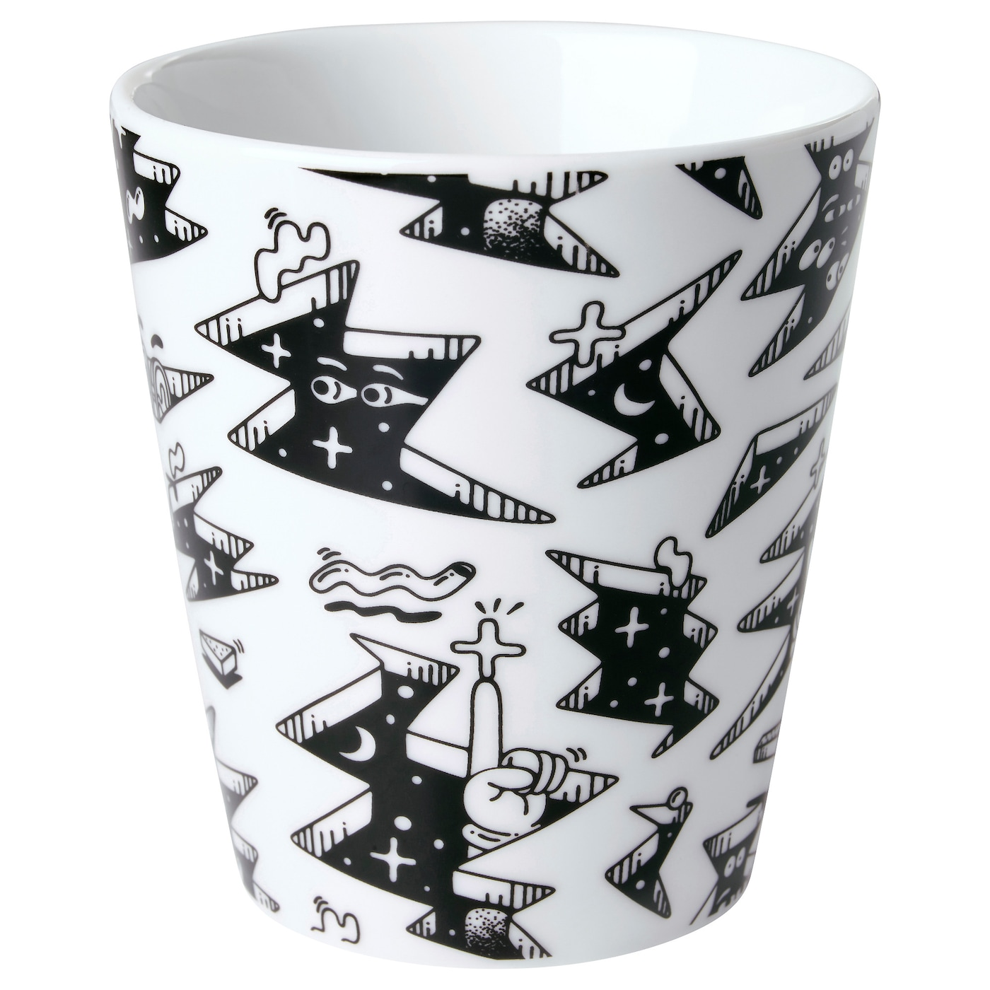 IKEA STUNSIG mug Made of feldspar porcelain, which makes the mug impact resistant and durable.