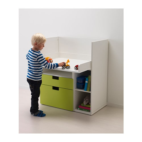 Stuva changing table desk white ikea Amenagement bureau ikea