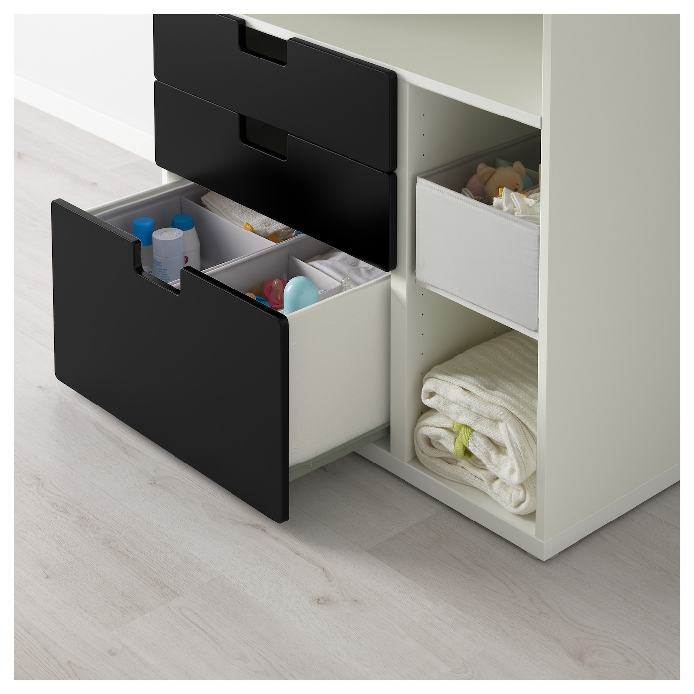 Ikea Pax Schrank Planer Schweiz ~ STUVA Changing table with 3 drawers White black 90x79x102 cm  IKEA