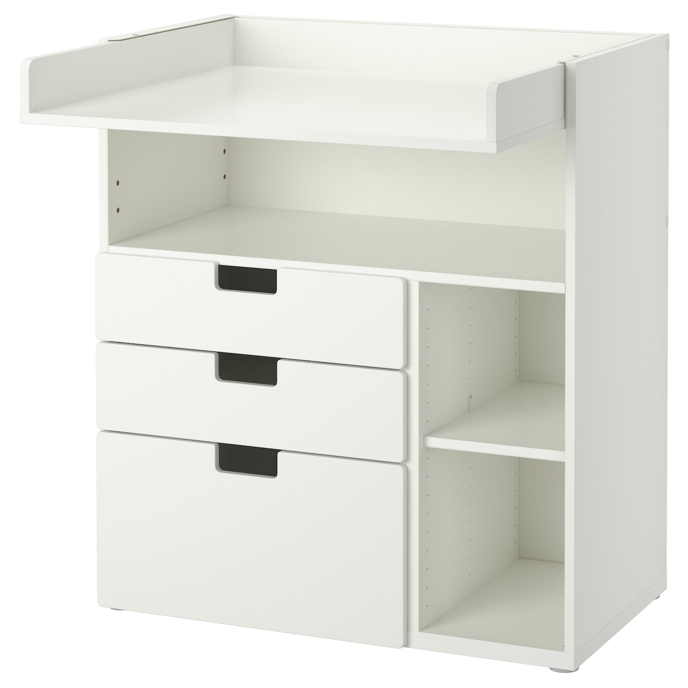 Stuva changing table with 3 drawers white 90x79x102 cm ikea - Commode table a langer ...