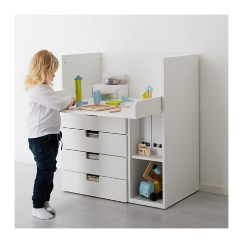stuva changing table with 4 drawers white 90x79x102 cm ikea. Black Bedroom Furniture Sets. Home Design Ideas