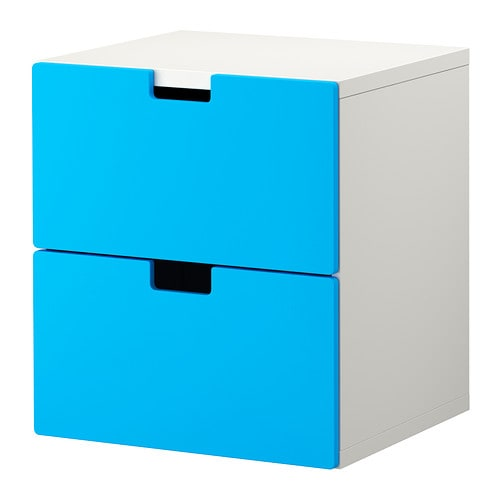 IKEA STUVA chest of 2 drawers Can be used either free-standing or wall-mounted.