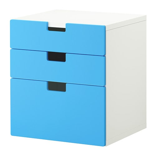 STUVA Chest of 3 drawers IKEA Low storage makes it easier for children to reach and organise their things.