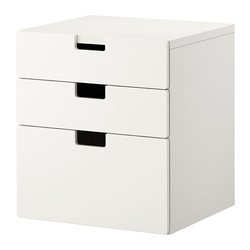 Stuva chest of 3 drawers white ikea for Ikea meuble tiroir rangement