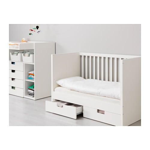 Stuva cot with drawers white 60x120 cm ikea - Tiroir de lit enfant ...