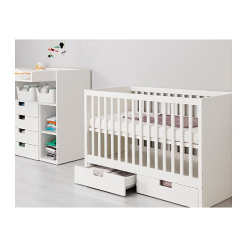 Stuva cot with drawers white 60x120 cm ikea - Couette lit bebe ikea ...