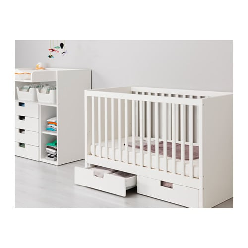 STUVA Cot with drawers White 60×120 cm  IKEA