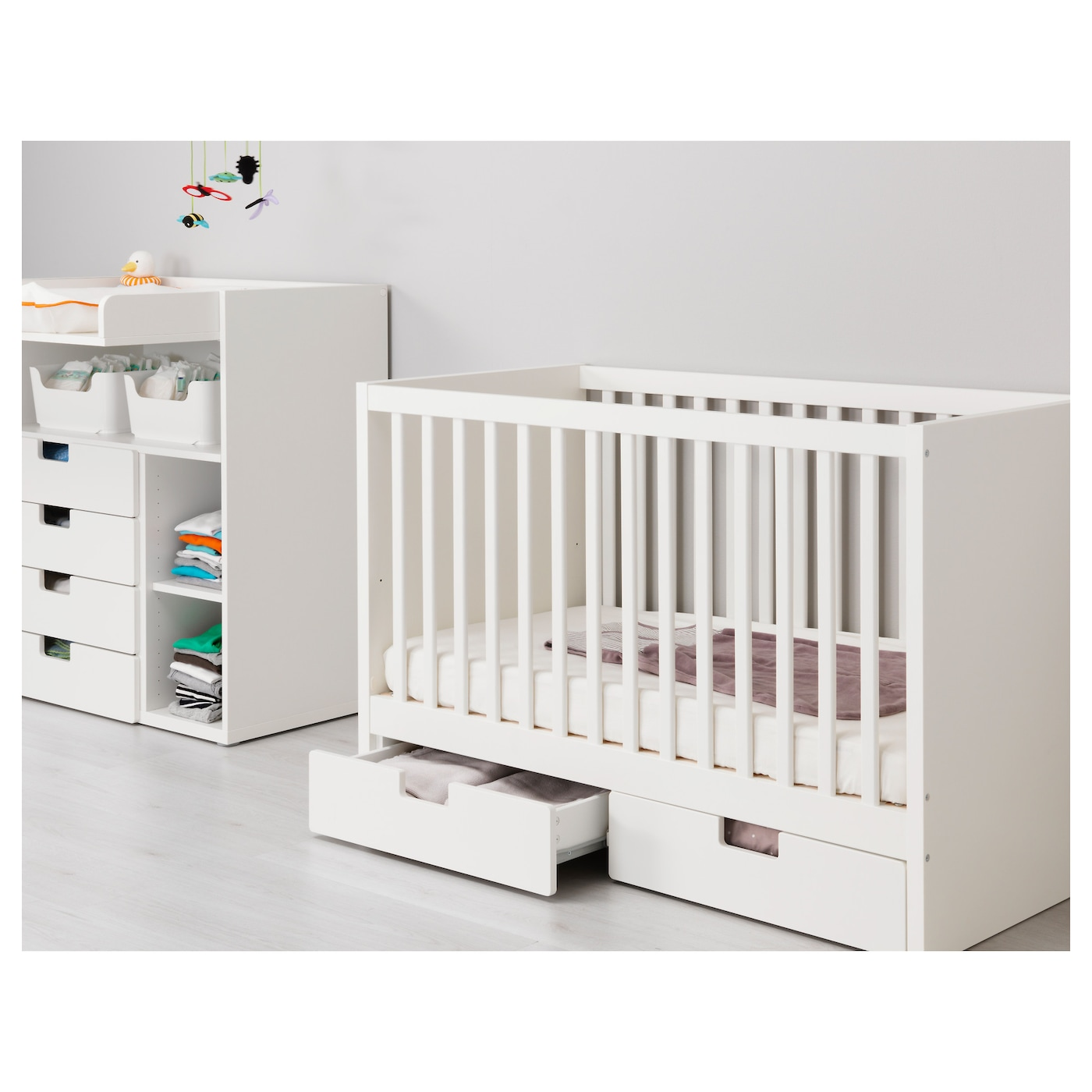 stuva cot with drawers white 60x120 cm ikea. Black Bedroom Furniture Sets. Home Design Ideas