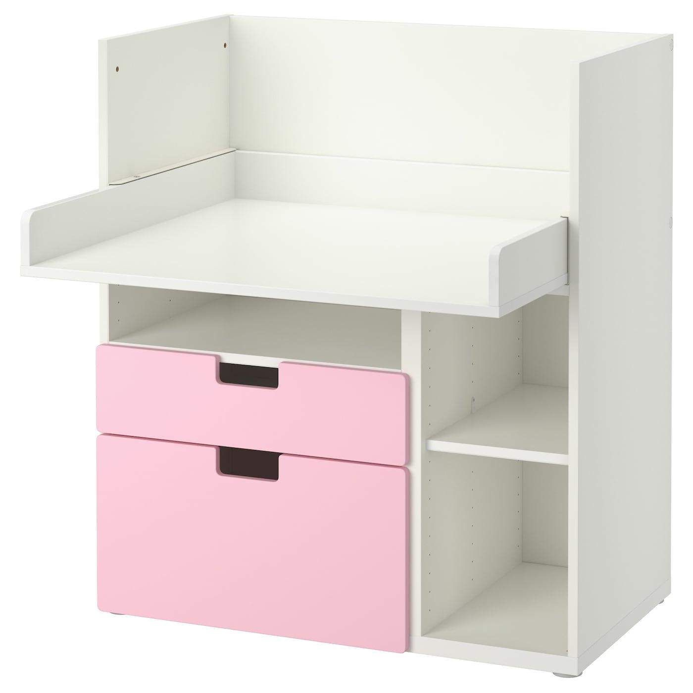 Stuva desk with 2 drawers white pink 90x79x102 cm ikea - Ikea desk drawer organizer ...